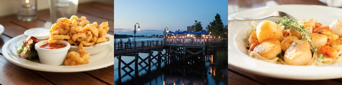 Our bar offers a spectacular view of the Cape Fear River